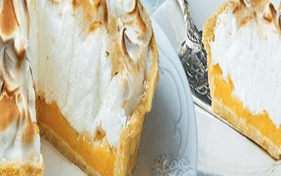 Citroen Pompoen meringue taart